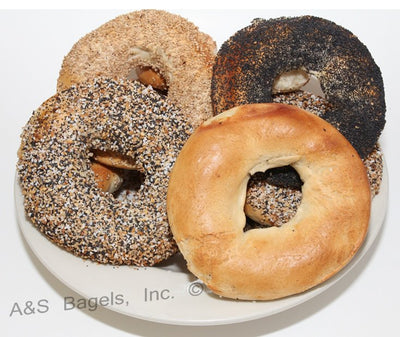 48 Kosher New York FLAT Bagels (4 Dozen)