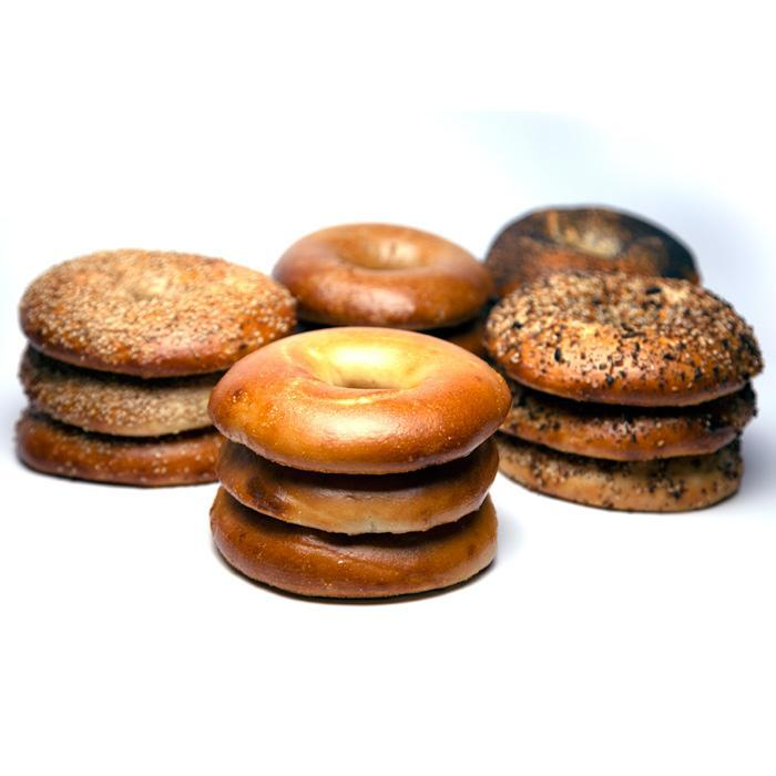 12 Kosher New York FLAT Bagels (1 Dozen)
