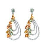 Pumpkin Spice Diamond Earrings