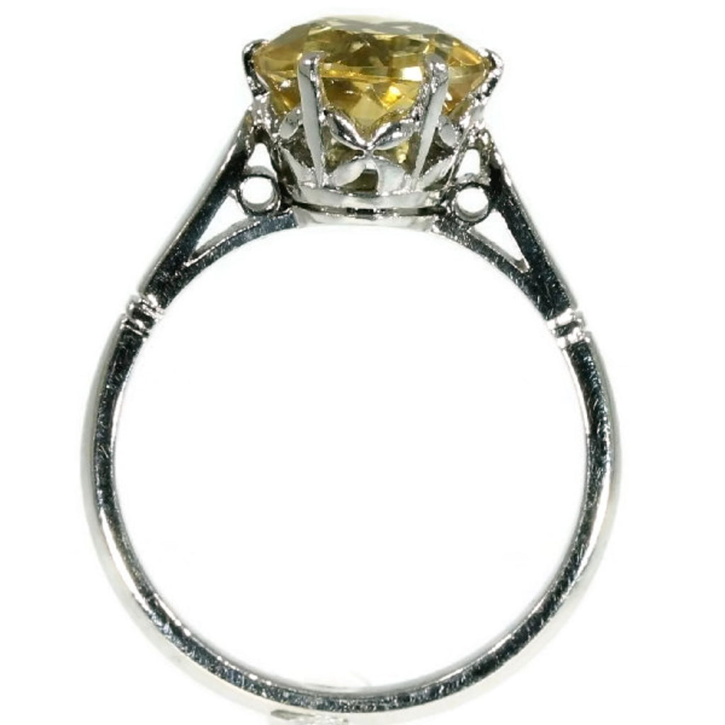 Vintage yellow stone engagement ring
