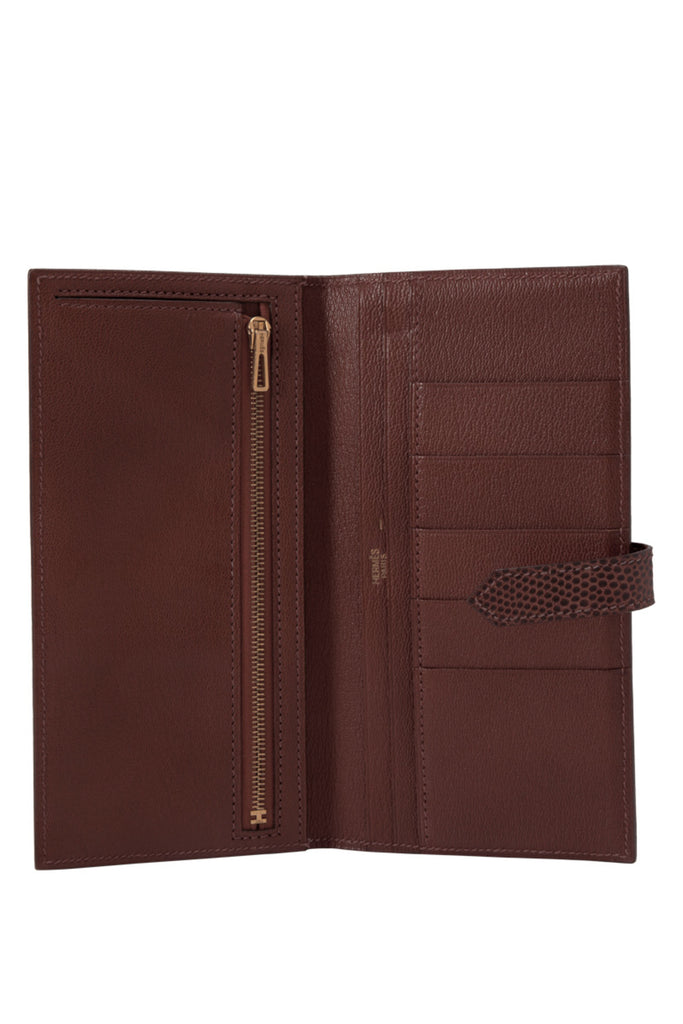 Brown Lizard Skin Bearn Wallet