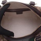 Gucci 269876 Beige/Ebony GG Fabric with Brown Leather Trim Handbag