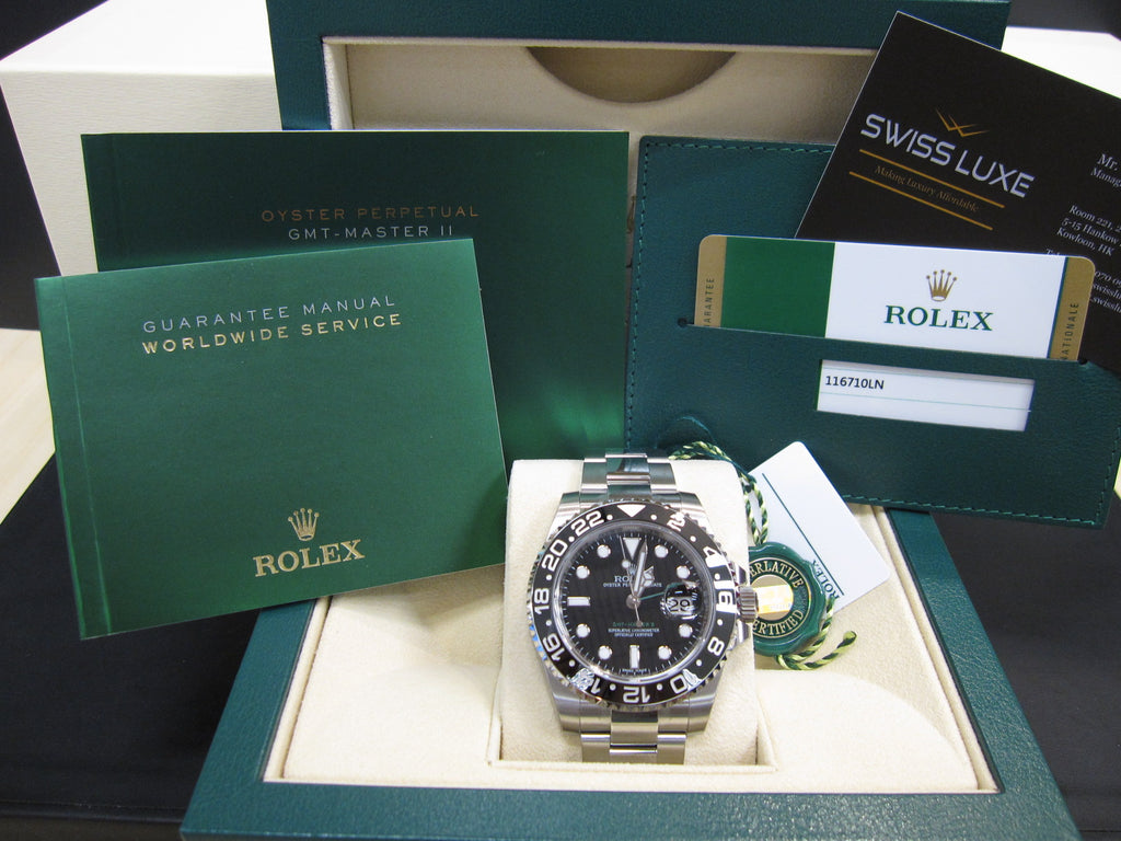 ROLEX GMT-MASTER II STEEL WATCH - 116710LN