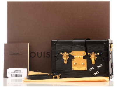 Louis Vuitton Black Epi Petite Malle