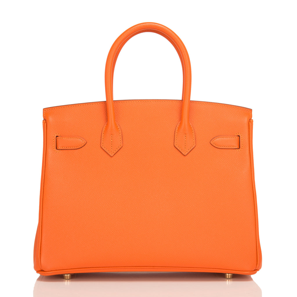 Hermes Orange H Epsom Birkin 30cm Gold Hardware