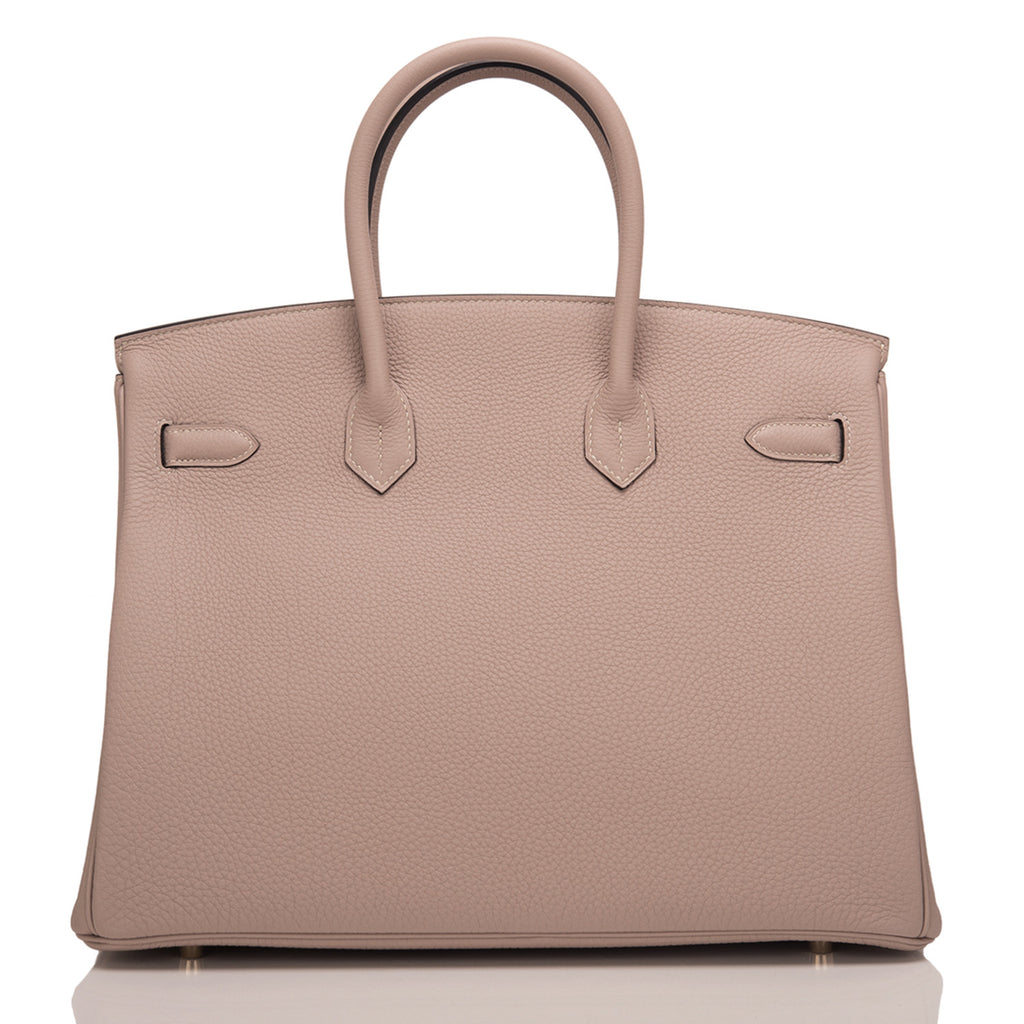 Hermes HSS Bi-Color Gris Tourterelle and Ardroise Togo Birkin 35cm Brushed Gold Hardware