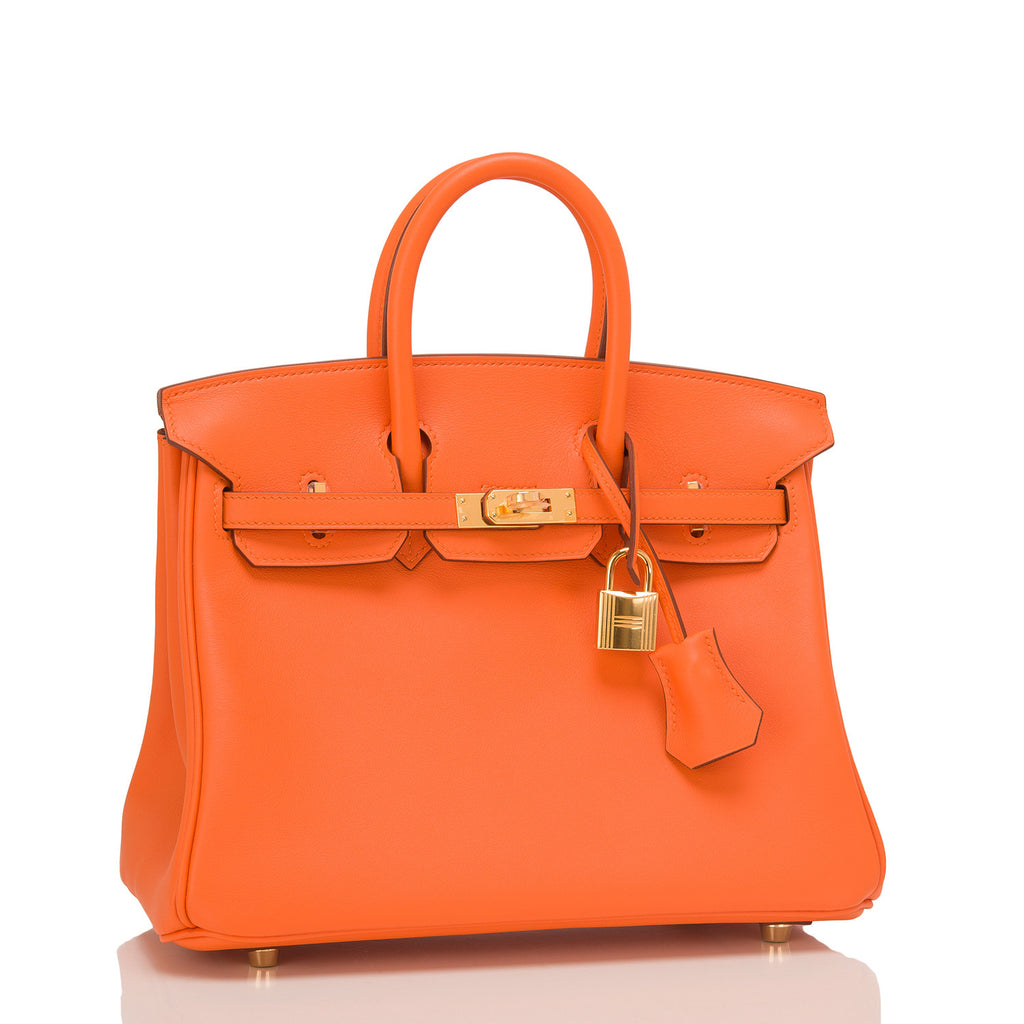 Hermes Orange Swift Birkin 25cm Gold Hardware