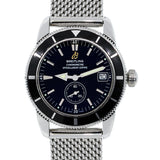BREITLING A37320 SUPEROCEAN HERITAGE BLACK DIAL STAINLESS STEEL WATCH