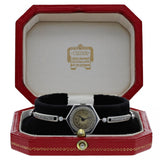 H.M. The Queens Sister Princess Margarets Cartier Art Deco Platinum Wristwatch