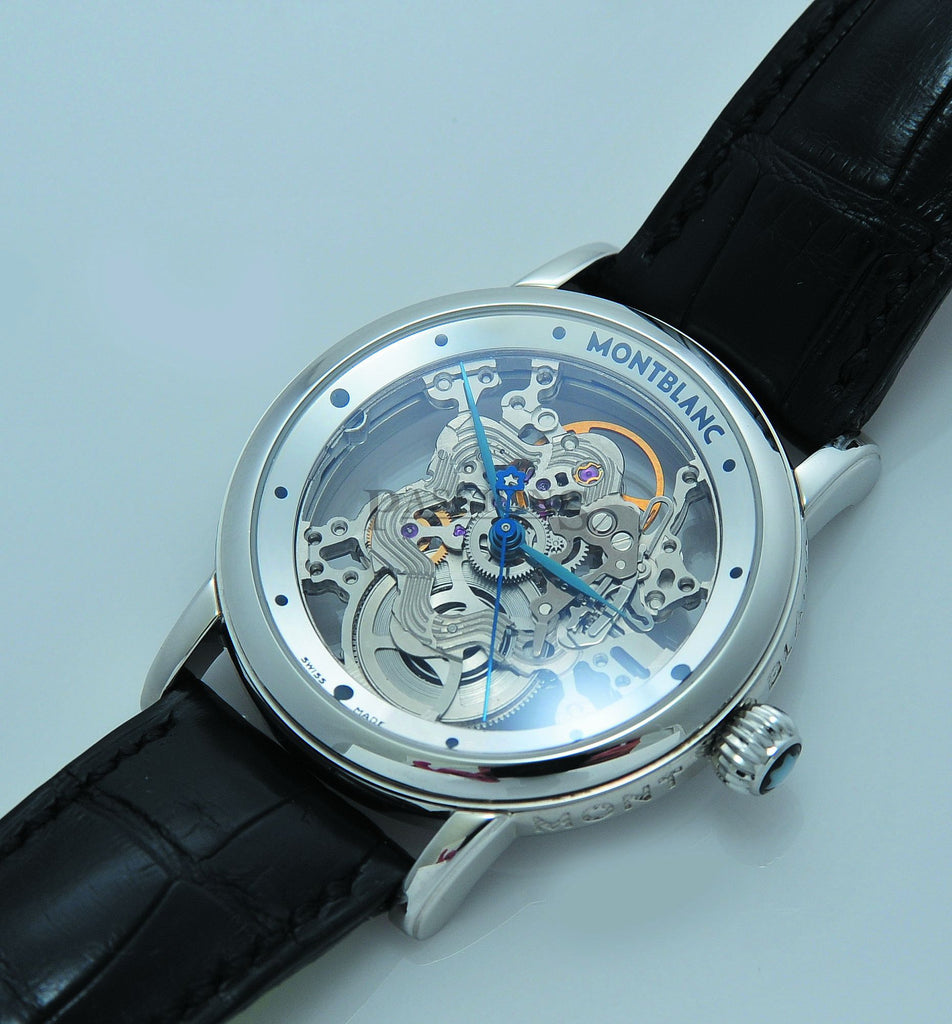 Mont Blanc 36mm Meisterstuck Skeleton Star