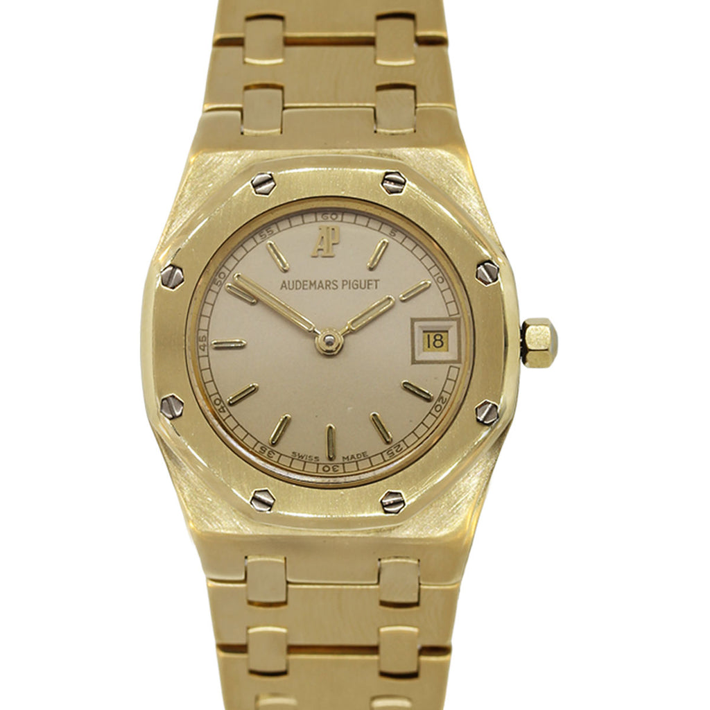 AUDEMARS PIGUET ROYAL OAK 18K YELLOW GOLD 1309 LADIES WATCH