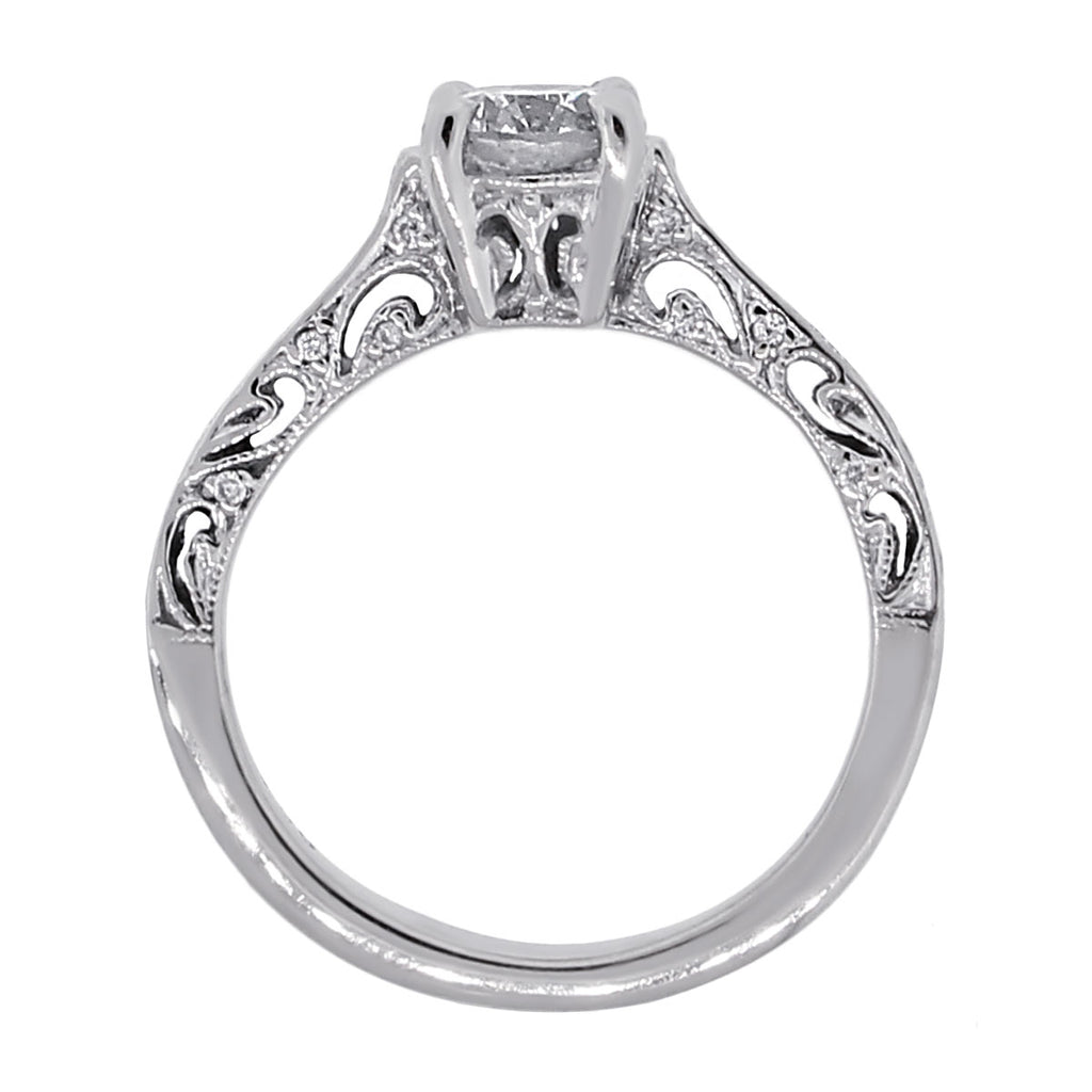 18K WHITE GOLD 0.60CT DIAMOND ENGAGEMENT RING EGL CERTIFIED
