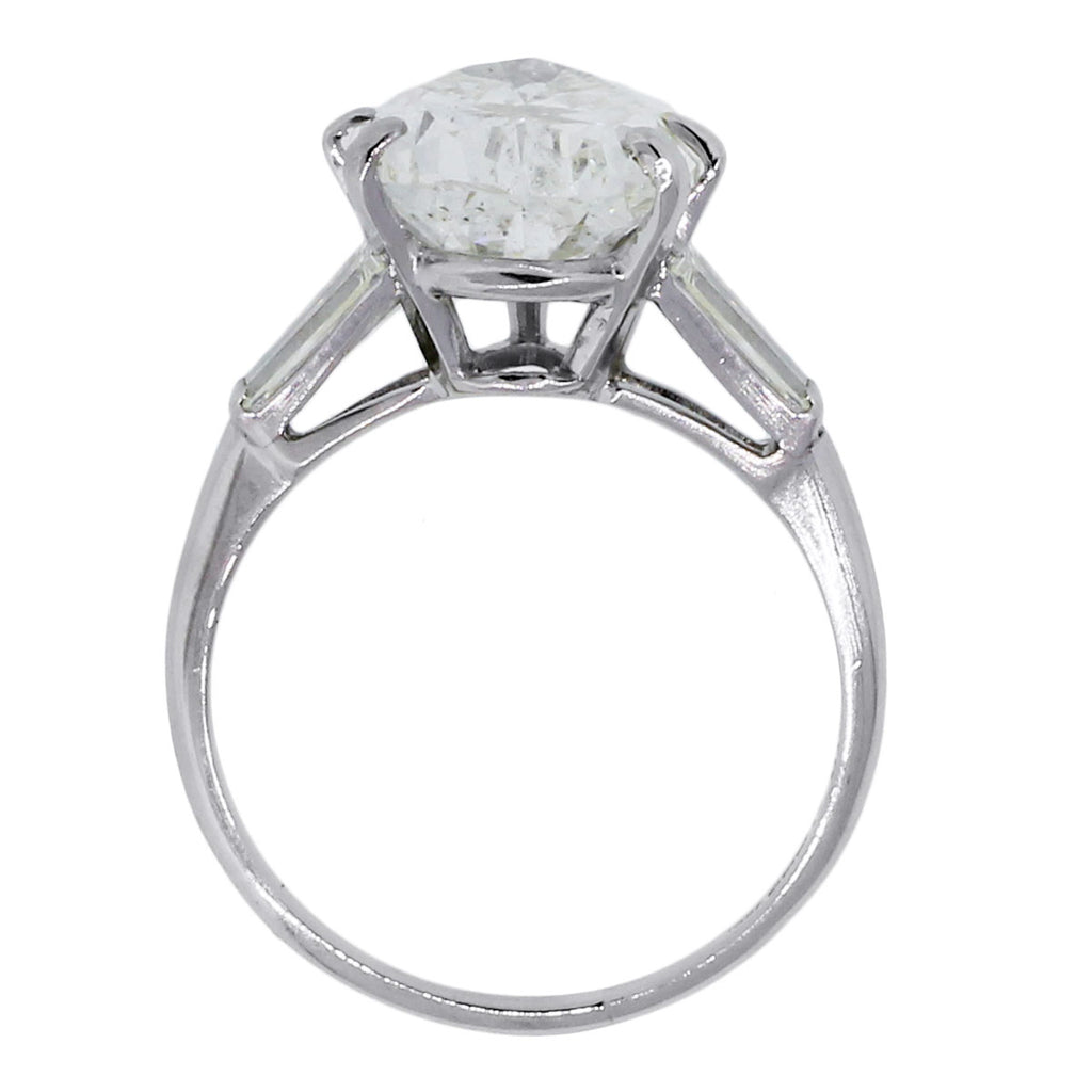 PLATINUM 6.21CT PEAR SHAPE DIAMOND ENGAGEMENT RING