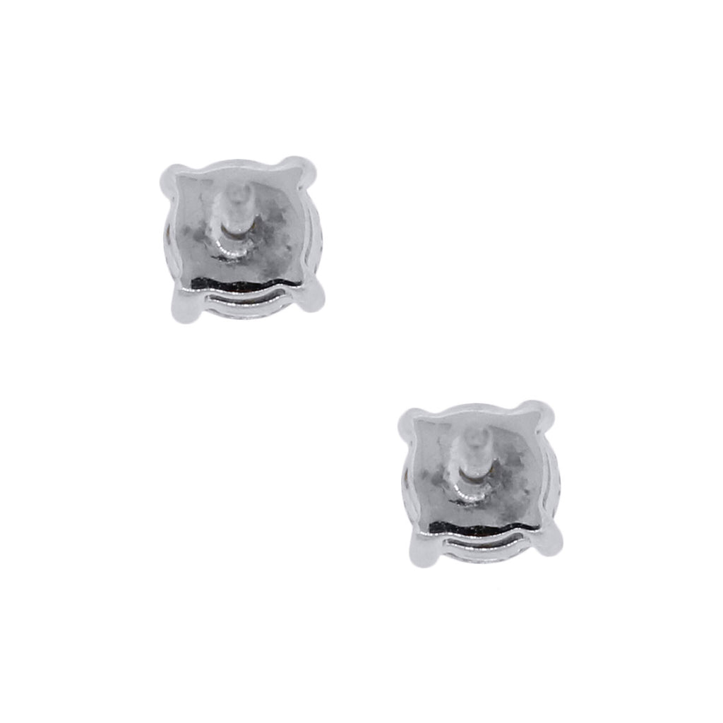 14K WHITE GOLD 1CTW DIAMOND STUD EARRINGS