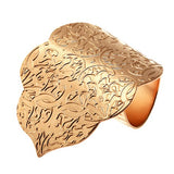 Rose Gold Vermeil Heavily Textured Statement Ring