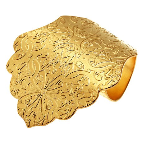 ARIANNA: GOLD VERMEIL HEAVILY TEXTURED STATEMENT RING  £185.00 GBP