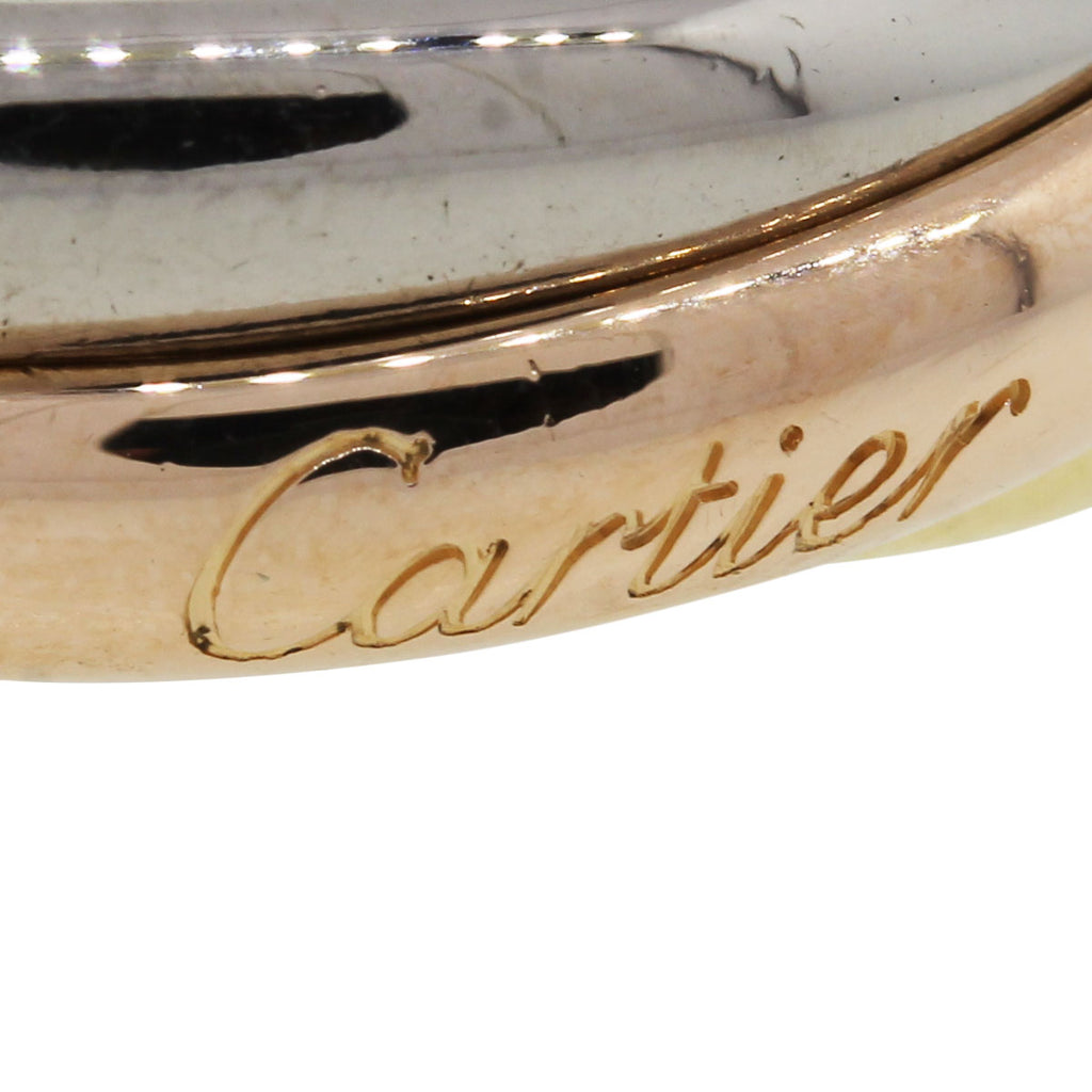 CARTIER TRINITY 18K TRI-GOLD SIZE 64 GENTS RING
