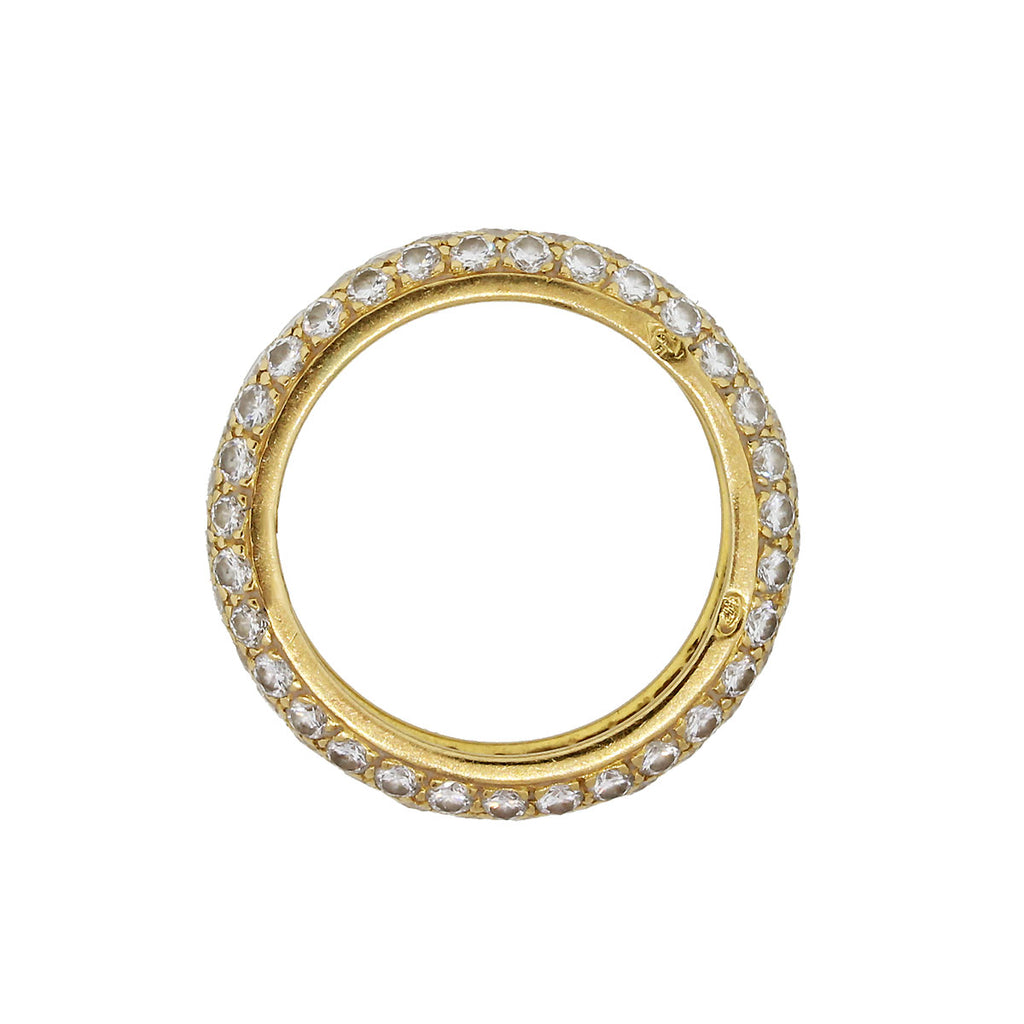 CARTIER 18K YELLOW GOLD 1CTW DIAMOND CLASSIC RING