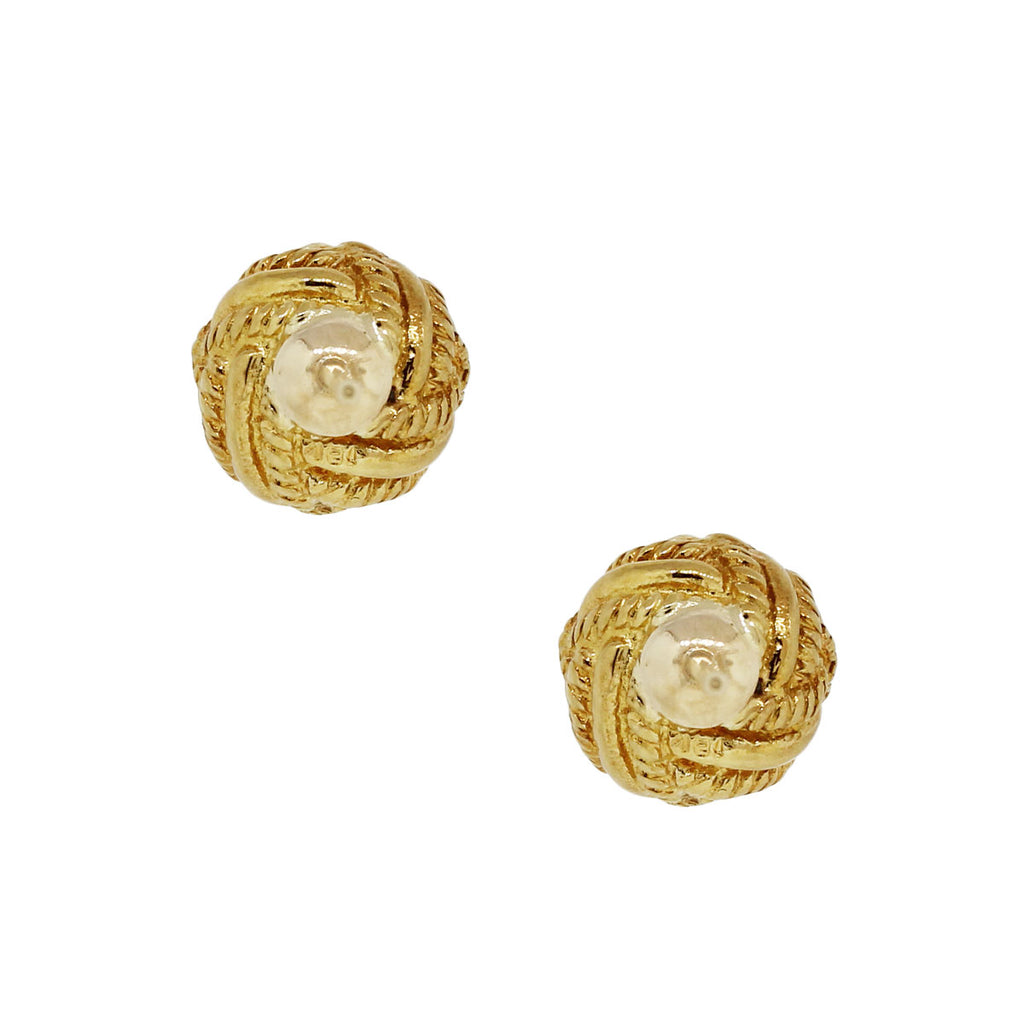 TIFFANY & CO. SCHLUMBERGER 18K YELLOW GOLD KNOT EARRINGS