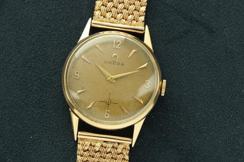 "Omega ""Honeycomb\"" dial 1940s watch"