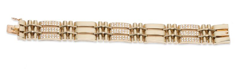 Van Cleef and Arpels Diamond Bracelet 18K Yellow Gold