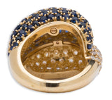 Van Cleef and Arpels Diamond and Sapphire 18K Yellow Gold Ring