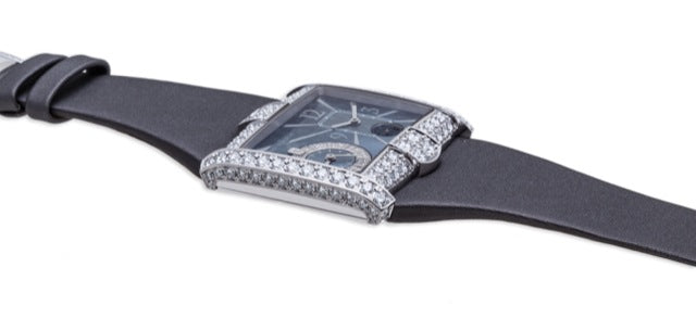 Harry Winston Avenue B 18K White Gold 350-LQTZWL-M1-00