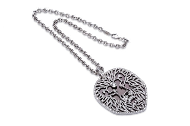 Carrera Y Carrera Lion Pendant 18K White Gold