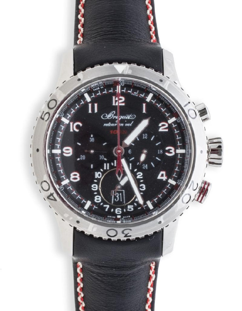 Breguet Type XXII Transatlantique Flyback Chronograph Stainless Steel 3880ST/H2/3XV