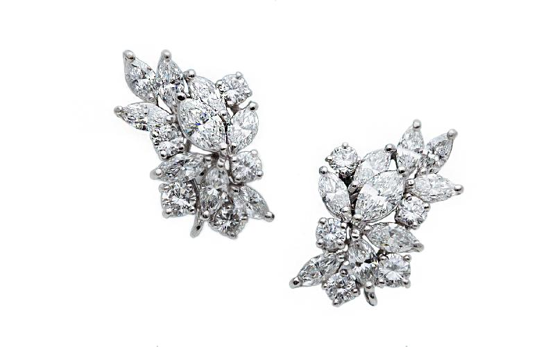 19.00 carat Diamond Earrings and 18KWG.
