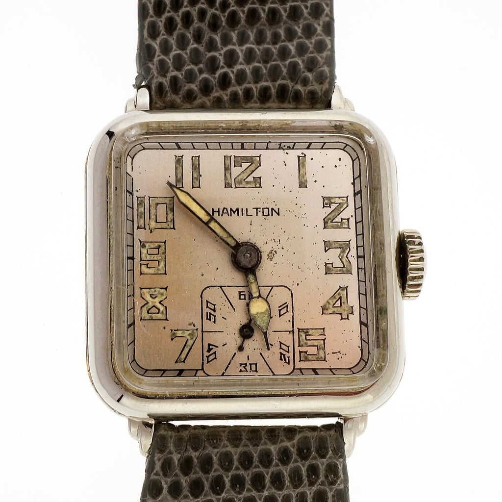 1929 Market Crash Great Depression Men\'s Hamilton Wrist Watch