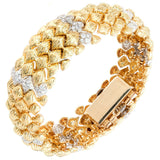 Bombe Bracelet Hinged Covered Goldie Watch