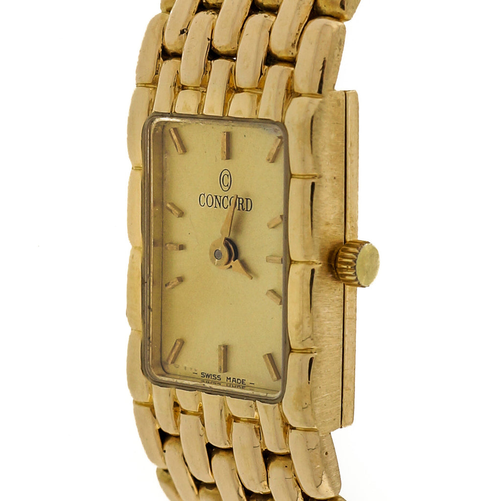 Ladies 18k Yellow Gold 7 Row Panther Wrist Watch