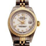 Ladies Rolex 18k Steel 69173 Datejust Jubilee Band Sapphire Crystal Watch