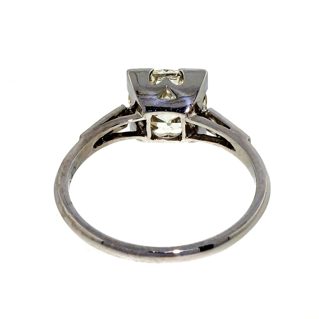 Antique Art Deco Engagement Ring Transitional Cut 1.62ct Platinum