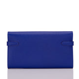 Hermes Blue Electric Epsom Kelly Longue Wallet