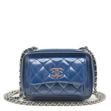 Chanel Blue Patent Pocket Box Mini Bag