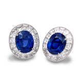 de Boulle Collection Burma Sapphire & Diamond Earrings
