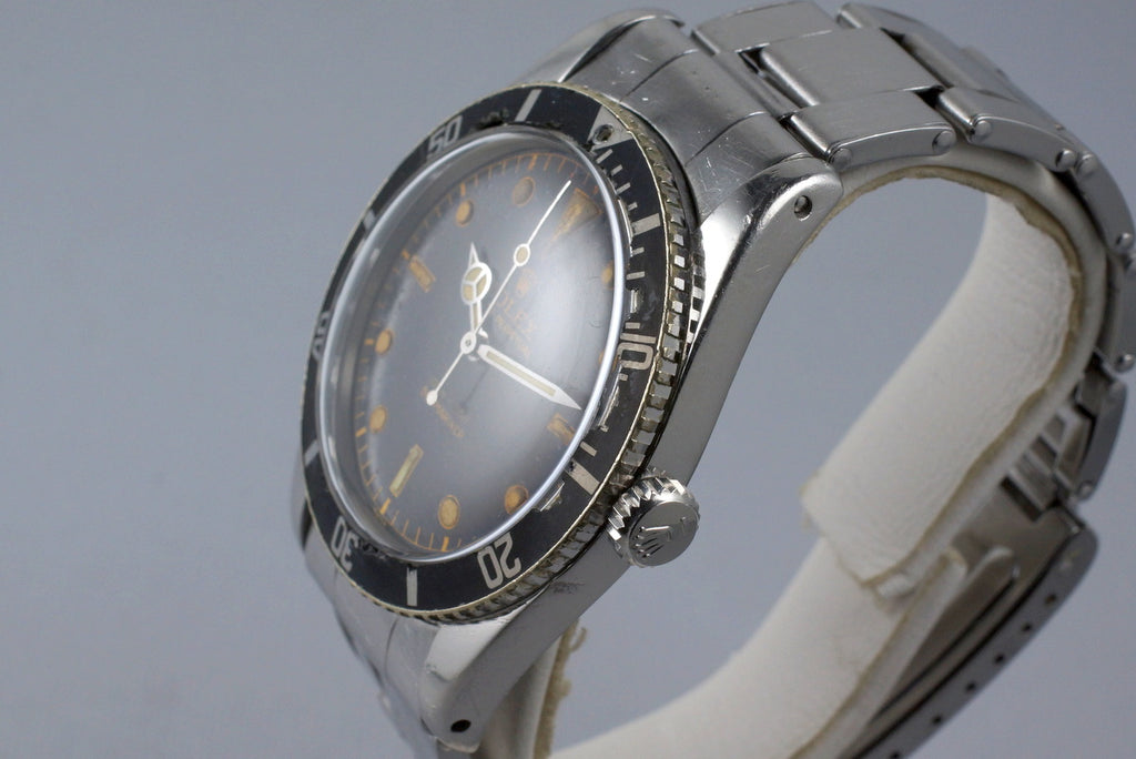 1959 ROLEX SUBMARINER 6536-1 GLOSSY GILT CHAPTER RING DIAL WITH PAPERS