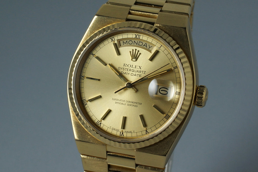 1978 YG OYSTERQUARTZ DAY-DATE 19018 WITH BOX AND PAPERS