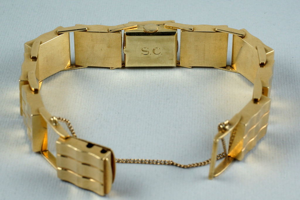 VINTAGE LADIES LECOULTRE 14K YG WATCH