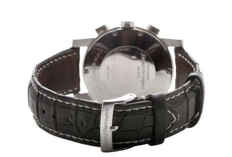 Girard Perregaux 7000 Stainless Steel Automatic Chronograph Black Dial 38mm Mens Watch