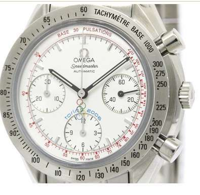 Omega Speedmaster 3538.30 Torino Olympic Stainless Steel 39mm Mens Watch Circa: 2006