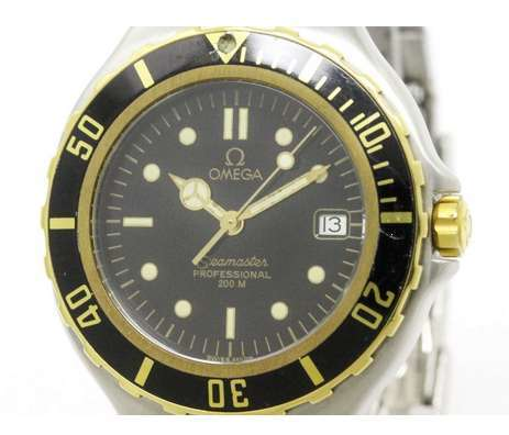 Omega Seamaster 396.1042 Professional 200M 18K Yellow Gold Stainless Steel Quartz 38mm Mens Watch