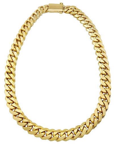 Men's Cuban Solid 14K Yellow Gold Diamond Link Chain in 75.3 Ctw