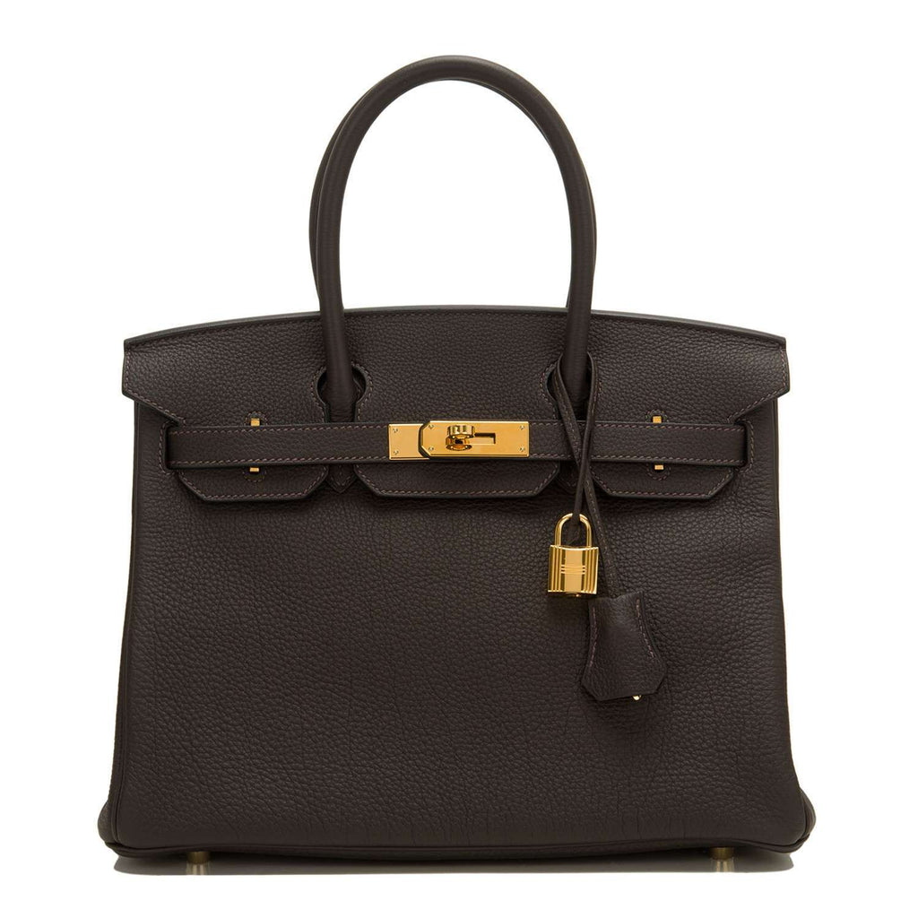 Hermes Macassar Ebony Togo Birkin 30cm Gold Hardware (Preloved - Mint)