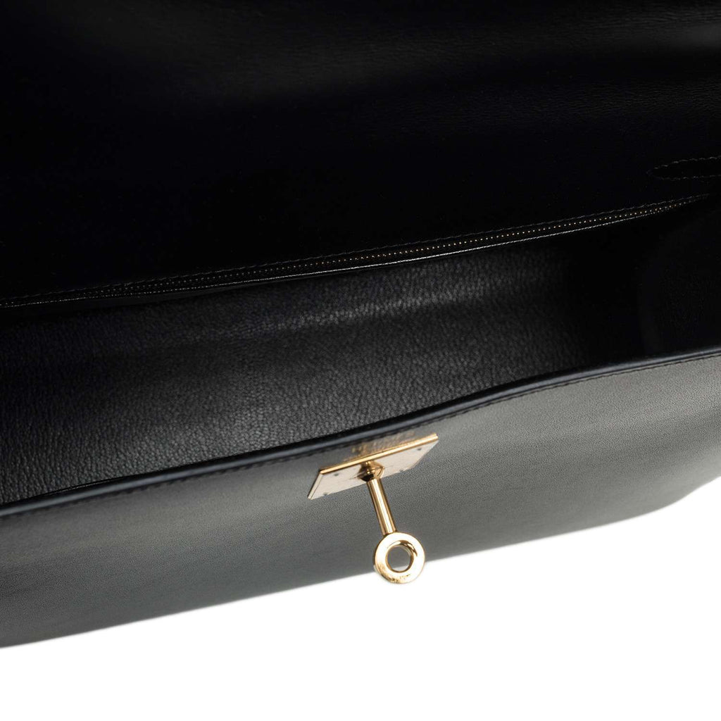 Hermes Black Box Kelly Sellier 32cm Gold Hardware (Preloved - Excellent)