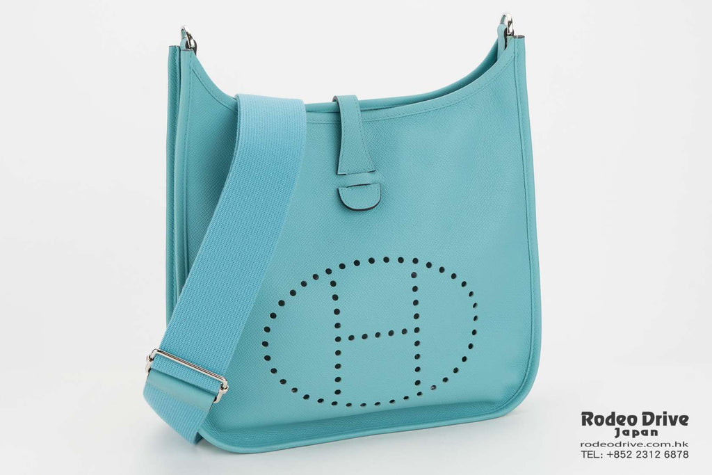 Hermes Evelyn PM Blue Atoll