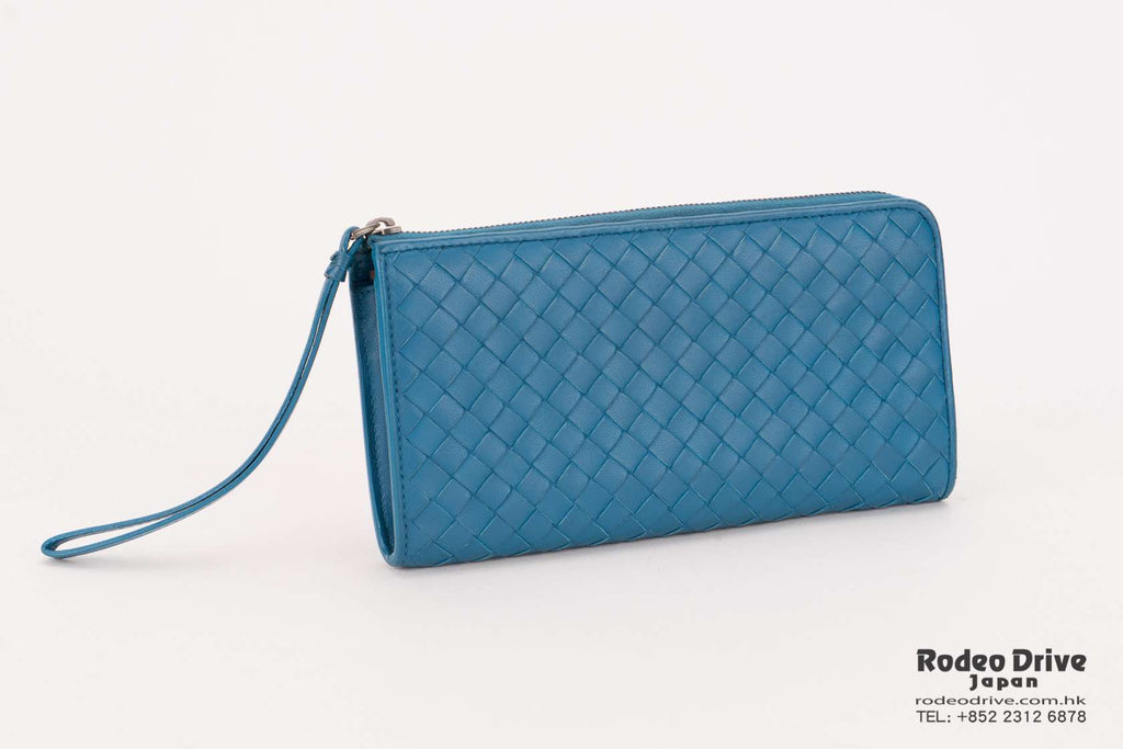 Bottega Veneta Long Wallet Indigo