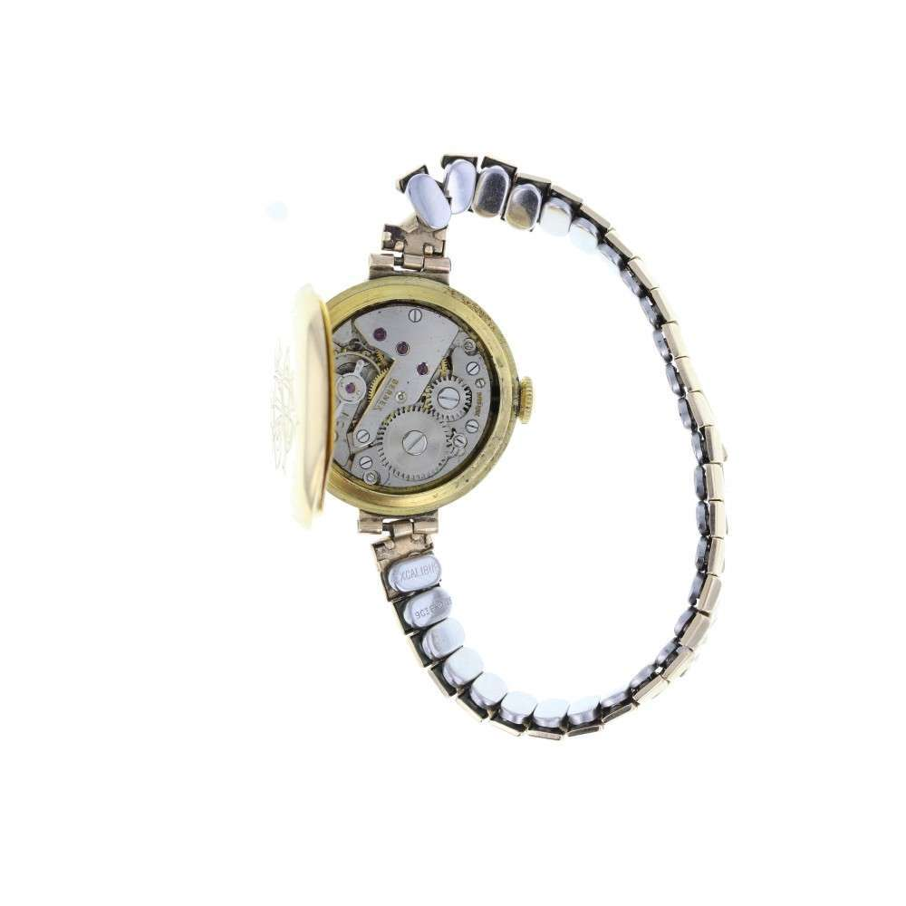 Bernex Sapphire and Diamond 18ct Gold Cocktail Watch